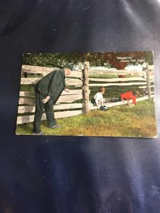 Canada 1909 Comical Post Card Post Paid With 1c Edward HS Part Black Lake/QUE