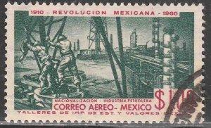 MEXICO C254, $1P 50th Anniv Mexican Revolution. USED, VF. (622)