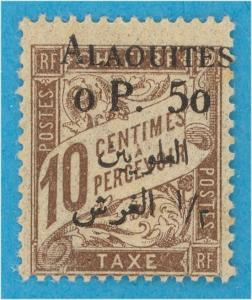 FRENCH MANDATE - ALAOUITES J1 POST DUE  MINT HINGED OG *  NO FAULTS EXTRA FINE !