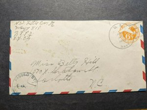 NAVY #819 Deptford, England 1944 Censored WWII Naval Cover Sailor's Mail