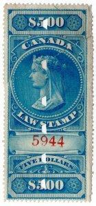 (I.B) Canada Revenue : Law Stamp $5