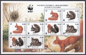 Slovenia, WWF, Fauna, Animals MNH /2007