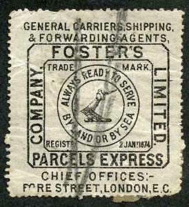 Fosters Parcel stamp (a few creases) Scarce