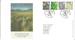 Northern Ireland Royal Mail FDC Definitive Stamps 2001 1st, 2nd, E & 65p Z9339