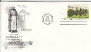 1968, 300th Anniv, Explorations Jacques Marquette, Artcraft, FDC (D15699)