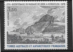 FRENCH SOUTHERN & ANTARCTIC TERRITORIES SG109 1976 COOKS PASSAGE KERGUELEN MNH