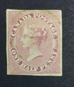 MOMEN: CANADA SG # IMPERF 1852 UNUSED £ LOT #7114