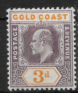 GOLD COAST SG53 1905 3d DULL PURPLE & ORANGE MTD MINT