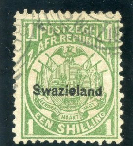 Swaziland 1889 QV 1s green very fine used. SG 3. Sc 5.