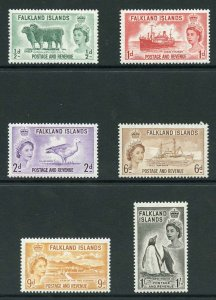Falkland Is SG187/92 1955 Set of 6 Fresh U/M