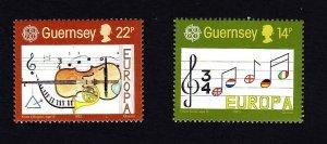 Guernsey MNH 314-5 Europa Music 1985
