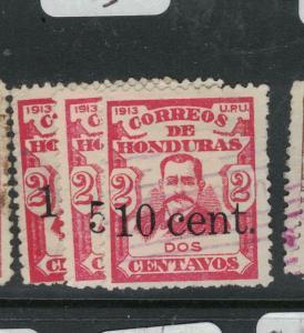 Honduras SC 162-3, 165 VFU (1dwk)