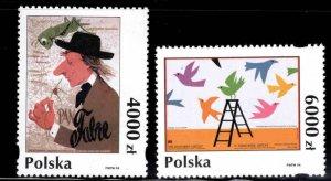 Poland Scott 3203-3204 MNH** Poster Stamp set