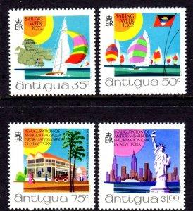 ANTIGUA - 1972 - SAIL BOAT - TOURISM - STATUE OF LIBERTY - NEW YORK + MNH SET!