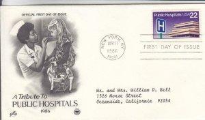 1986, A Tribute to Public Hospitals, Artcraft/PCS, FDC (E8254)