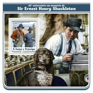 SAO TOME - 2017 - Ernest Shackleton. 95th Death Anniv - Perf Souv Sheet - MNH