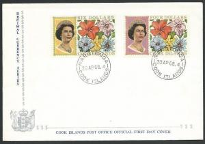 COOK IS 1968 $4 & $6 flowers definitive FDC................................11586