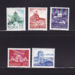 Norway 718-720, 722-723 MNH Buildings
