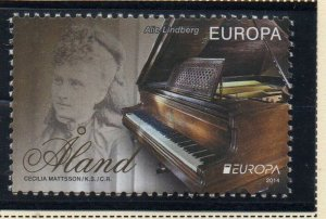 Aland Sc 355 2014 355 Europa Piano stamp  mint NH