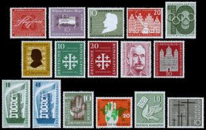Germany Scott 738-753 Complete Year Set (1956) Mint NH/LH VF C