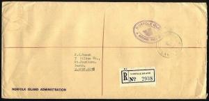 NORFOLK IS 1980 Official mail cover to Australia...........................97415