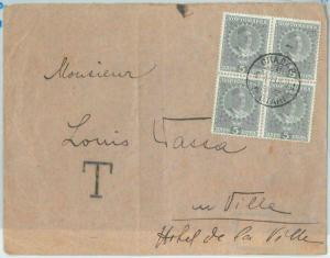 67657 - MONTENEGRO - Postal History -  COVER: TAXED 20 Para 1915