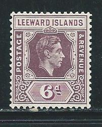 Leeward Islands 110 1938-51 6d KGVI MLH Gum Distubance
