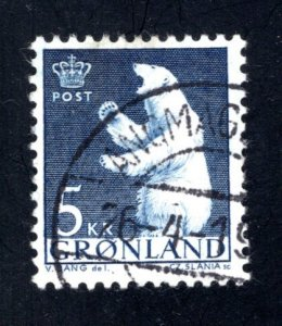 Greenland 63,   VF, Used  CV $ 2.25 ....2510109