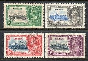 Grenada 1935 KGV Silver Jubilee set SG 145-148 used CV £42
