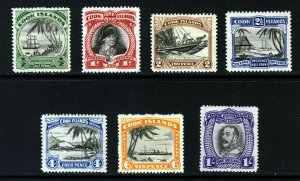COOK ISLANDS 1932 The Complete No Watermark Set SG 99 to SG 105 MINT