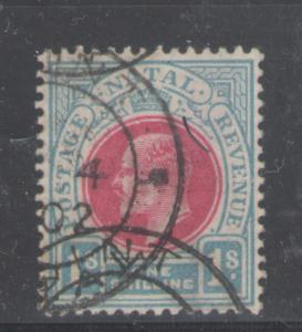 Natal 1902 King Edward VII 1sh Scott # 90 Used