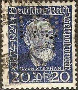 Germany - #343 -used- 1924 - von Stephan - 80pf - SCV-$1.25
