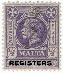 (I.B) Malta Revenue : Registers ½d