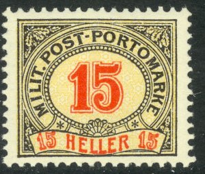 BOSNIA AND HERZEGOVINA 1904 15h Perf.12 1/2 x 13 Postage Due Sc J10a MNH