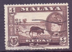 Malaya Kedah Scott 85 - SG94, 1957 Sultan 4c used