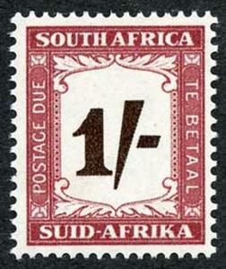 South Africa SG D44 1950 1/- Post Due U/M