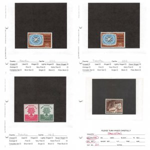 Lot of 105 Pakistan Used & MNH Mint Never Hinged Stamps #147222 X R
