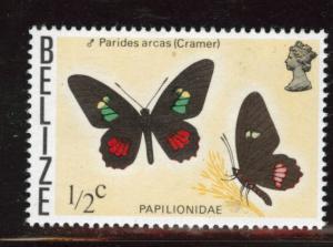 BELIZE  Scott 345a MNH** 1975 butterfly variety