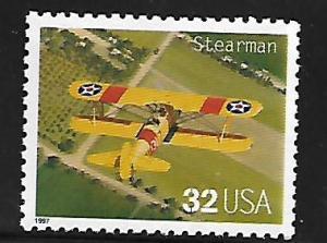 USA, 3142L, MNH, CLASSIC AMERICAN AIRCRAFT, STEARMAN