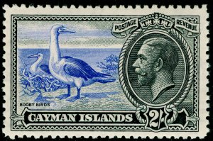 CAYMAN ISLANDS SG105, 2s ultramarine & black, NH MINT. Cat £50.
