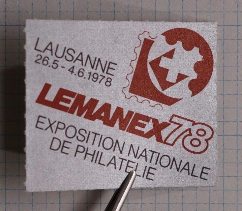 Lausanne 1978 LEMANEX 78 Philatelic Expo show exhibit Swiss Ad Poster Stamp DL