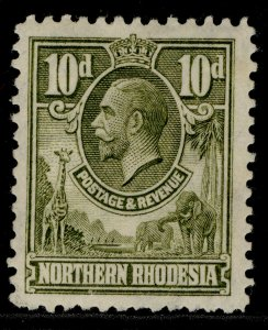 NORTHERN RHODESIA GV SG9, 10d olive-green, M MINT.