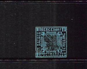 BERGDORF  1861-67  1/2s  BLACK/DEEP BLUE  FU     SG 3