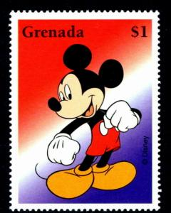 GRENADA - 2002 - DISNEY - MICKEY MOUSE - 100 YEARS OF MAGIC - MINT - MNH SINGLE!