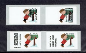 US #CVP 98 ERROR, CHARLIE BROWN OF TWO DIFFERANT FOREVER STAMP ERRORS, $50.00