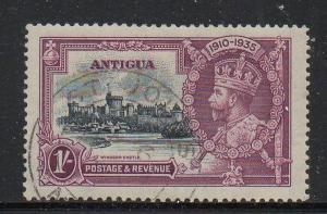Antigua Sc 80 1935 1/ George V Silver Jubilee stamp used