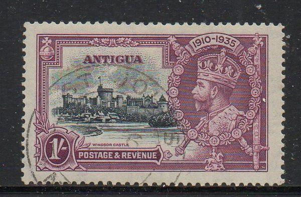 Antigua Sc 80 1935 1/ George V Silver Jubilee stamp used