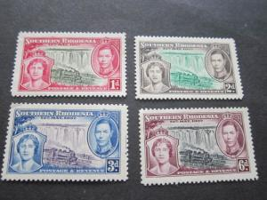 Southern Rhodesia 1937 Sc 38-41 set MNH