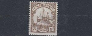 CAROLINE ISLAND 1915 - 19  S G 27  3PF   BROWN    MNH
