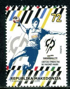 305 - MACEDONIA 2019 - World Men's Handball Championship-Denmark-Germany-MNH Set